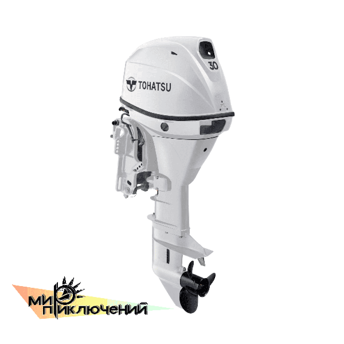 Tohatsu MFS 30 WHITE EPTL, 4 х тактный подвесной лодочный мотор Тохатсу 30 л с  белый