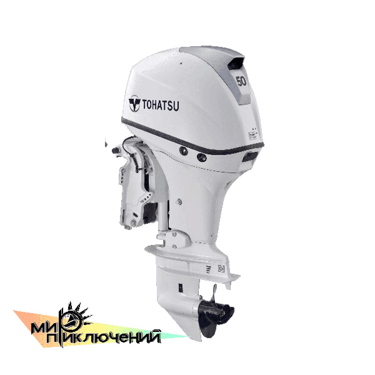 Tohatsu MFS 50 WHITE ETL, 4 х тактный подвесной лодочный мотор Тохатсу 50 л с